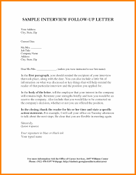 Folow Up Letter 10 Follow Up Letters After An Interview Cover Letter