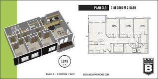Plan 3.3   Beerline B Apartments