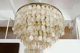 captivating capiz shell chandelier at 1stdibs