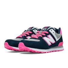 new balance girls. new balance 574 - kl574nkp pre-school shoes: girls t