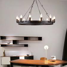 vintage industrial pendant lamp rustic candle chandelier iron ceiling fixtures