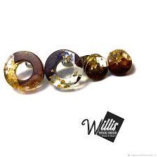 earrings handmade livemaster handmade stud earrings made of wood and jewelry resin