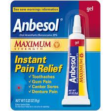 Lighting Gels Walmart Anbesol Maximum Strength Oral Anesthetic Gel 0 33 Oz Pack Walmart Com