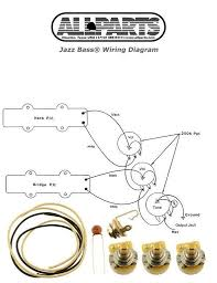 new jazz bass pots wire & wiring kit for fender jazz bass guitar fender p bass wiring diagram new jazz bass pots wire & wiring kit for fender jazz bass guitar parts diagram