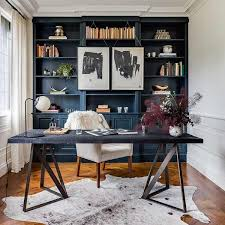 home office dark blue gallery wall. Great Office Shelf Decorating Ideas About Home Shelves On Pinterest Dark Blue Gallery Wall A