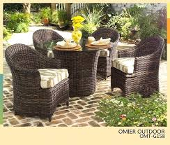 outdoor wicker table modern design round table and chair set rattan dining set wicker resin wicker