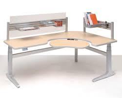 corner office desk ideas. Furniture, Sierra Pin Offset Corner Office Work Desk Design With Steel Frame File Rack And Ideas