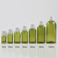 50pcs wholesale 10 ml <b>olive</b> green dropper <b>empty</b> glass container ...