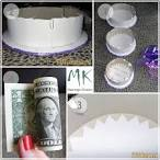 Как сделать денежный торт