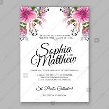 Wedding Card Template Classy Red Dahlia Wedding Invitation Card Template Hibiscus Vector