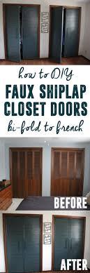 modern french closet doors. How To DIY Bi-fold Into French Closet Doors Modern F