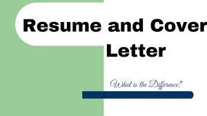 Cover Letter And Resume Difference Eursto Com