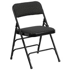 metal padded folding chairs. HERCULES Series Curved Triple Braced \u0026 Double Hinged Black Patterned Fabric Upholstered Metal Folding Chair Padded Chairs R