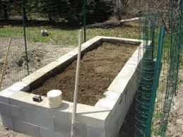 Small Picture How to Build a Concrete Block Raised Bed Garden