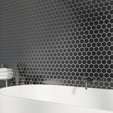 bathroom floor tiles bathroom floor tiles uk victoriaplum com british ceramic tile mosaic hex black gloss tile 300mm x 300mm 1 sheet