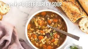 slow cooker beef barley soup healthy