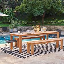 playa outdoor dining table benches set