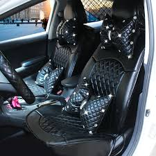 name automotive seat covers for women quality pu leather universal car seat cushion set black