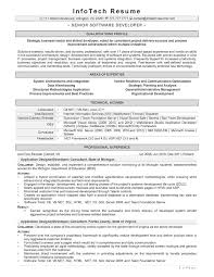 Best Resume Format For Software Developer Sample Software Developer Resume Senior Software Engineer Resume