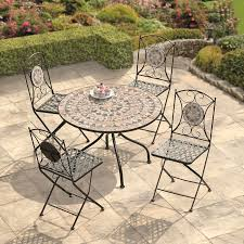 mosaic garden table and folding chair set outdoor dining furniture small enough to not take up too much room but large enough for outdoor dining set