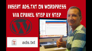 how to implement ads txt to wordpress via cpanel 2018 easy steps