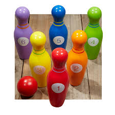 wooden bowling set 15 ages 3 years