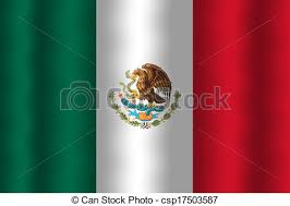 mexican flag waving drawing. Beautiful Mexican Waving Mexico Flag  Csp17503587 With Mexican Drawing T