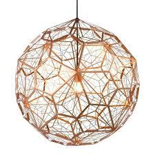 copper lighting fixtures. Copper Pendant Lamp Led Lights Modern Silver Ball Suspension Metal Lighting . Fixtures T
