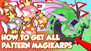 All Magikarp Patterns Enchanting HOW TO GET ALL THE PATTERN MAGIKARP IN POKEMON BRICK BRONZE