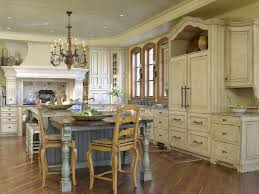 Kitchen:Horrible French Country Kitchen Designs With White Kitchen Cabinet  Including Marble Countertop Over Double