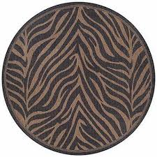 recife outdoor zebra animal print round rug contemporary outdoor rugs by rug and more