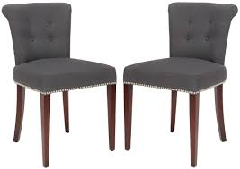 arion 21 h linen ring chair nickel nail heads set of 2 mcr4514a set2 dining chairs