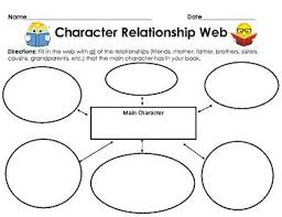 Graphic Organizer Character Relationship Web Graphic