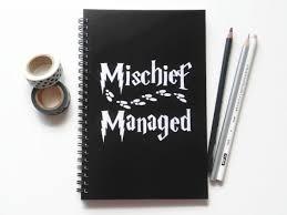 1 mischief managed notebook