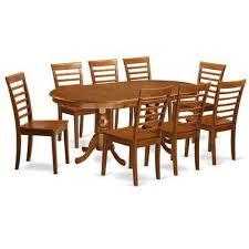 darby home co germantown 9 piece dining set chair upholstery non upholstered wood dining room table setsdining chairsdining