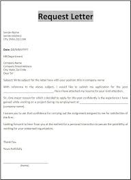 Template Request Letter Sample Requesting Documents Document