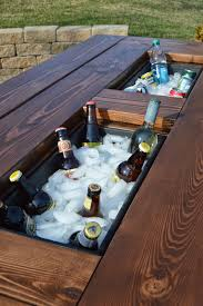 outside furniture ideas.  Furniture DIY Cooler Picnic Table With Outside Furniture Ideas R