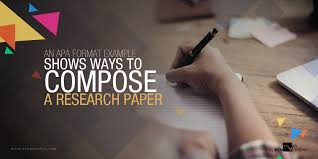 how to do a research paper in apa format an apa format example shows ways to compose a research paper