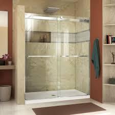 frameless sliding shower doors. Unique Doors DreamLine Essence 56 In To 60 X 76 SemiFrameless In Frameless Sliding Shower Doors L