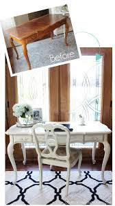 makeover furniture. French Provincial Desk Made Over With Cottage White Paint By Behr (made Into DIY Chalk Makeover Furniture