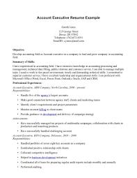 Sample Resume Account Executive Account Executive Resume Sample DiplomaticRegatta 10