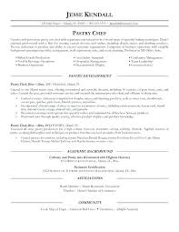 Resume Objective Line Cook Resume Objective Awesome Pastry Chef ...