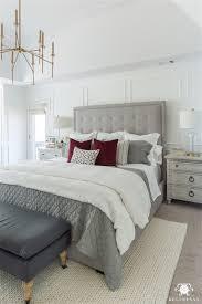 master bedroom decorating ideas gray. Master Bedroom Decorating Ideas - Modern Gray Tufted Bed