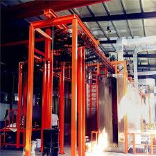 vertical steel pipe painting line