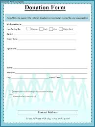 Donation Form Template Word Templates