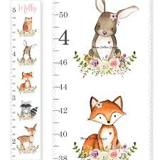 Buy Deer Family Wooden Growth Chart Woodland Animal
