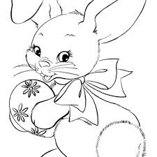 Easter Bunny Face Coloring Pages With Easter Coloring Pages Holiday