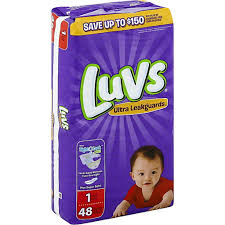 Luvs Ultra Leakguards Diapers Size 1 8 14 Lb