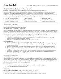 Hotel Management Trainee Resume Excellent Event Management Trainee