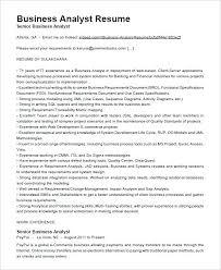 Senior Resume Template Senior Business Analyst Cv Template Resume Professional Letsdeliver Co